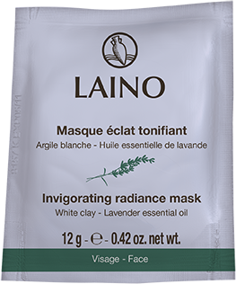 Laino Face invigorating radiance mask White clay
